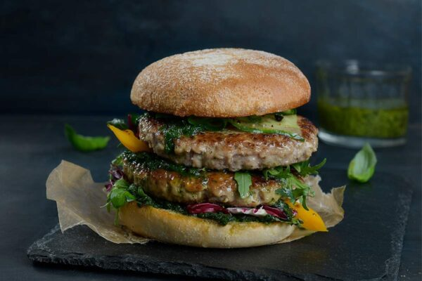 Homestyle Lammeburger