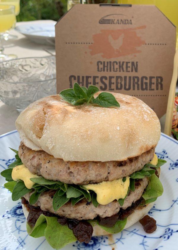 Chicken Cheese burger dobbel