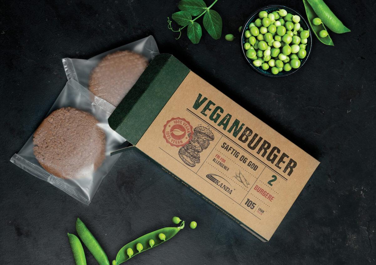 Kanda veganburger 105g 2pk med erteprotein