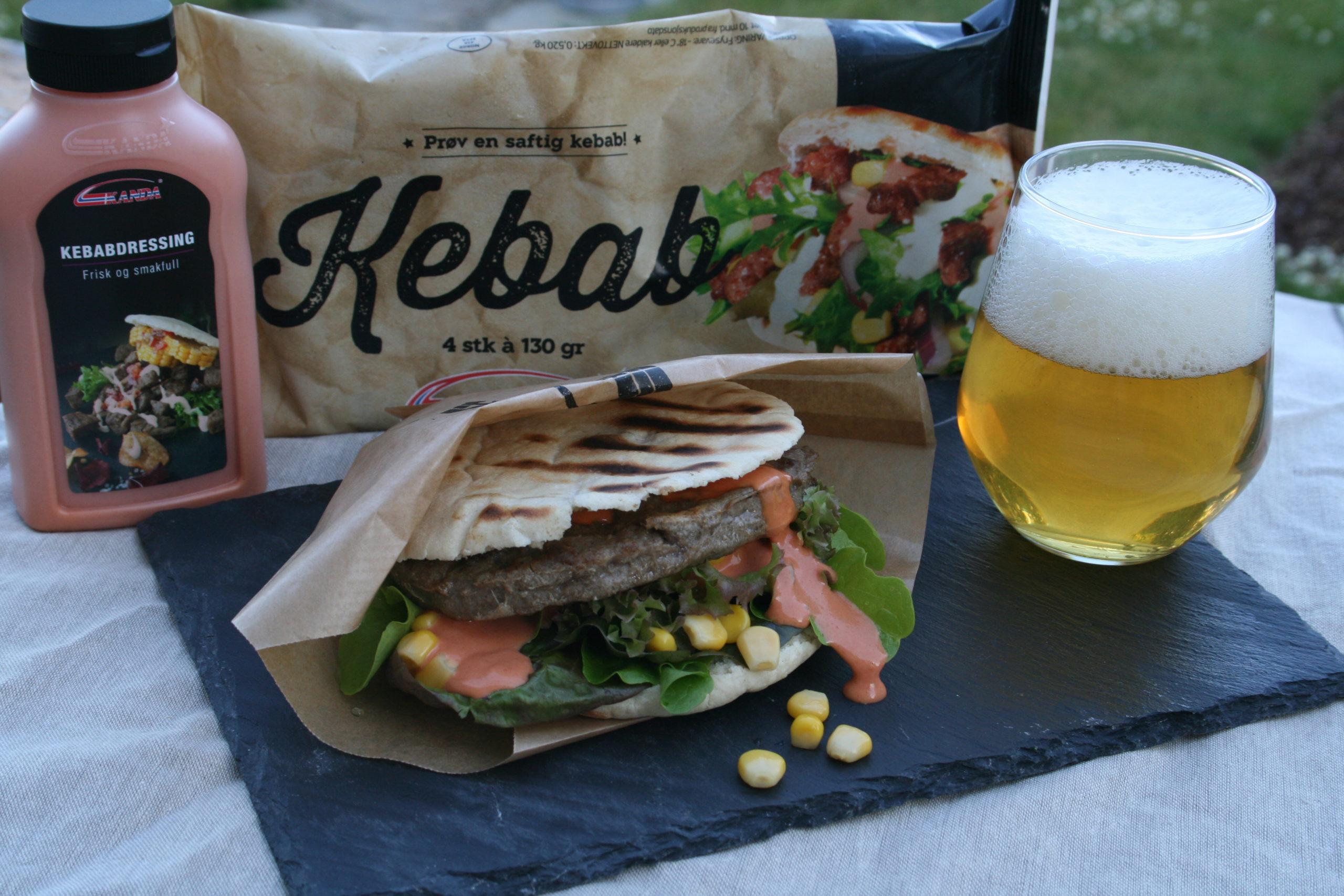 Kebab på grillen